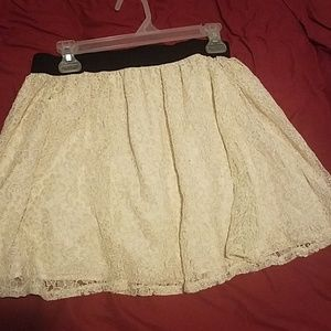 Champagne lace Forever 21 miniskirt